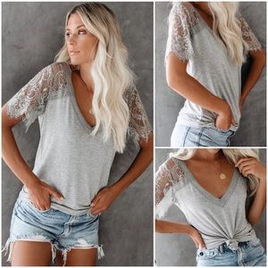 Sweet Side Lace Sleeve Top